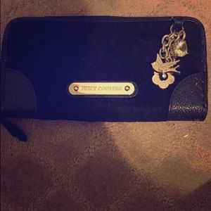 Black juicy couture long wallet